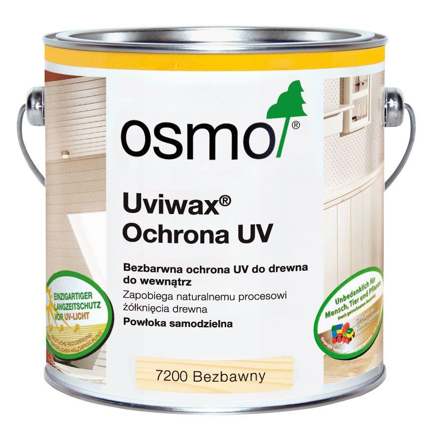UVIWAX Osmo z filtrem UV zapobiega żółknięciu drewna pod wpływem słońca.