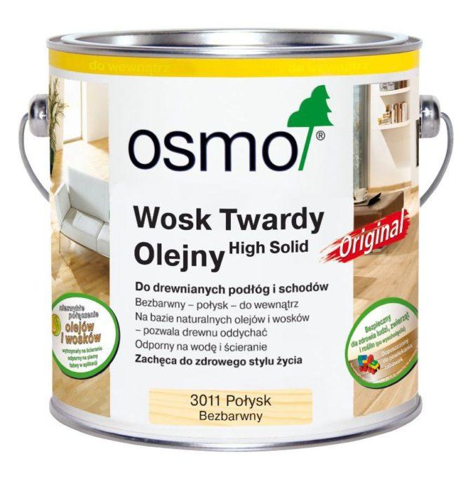 Osmo 3011 - Wosk Twardy olejny ORIGINAL - Bezbarwny, Połysk