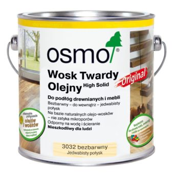 Osmo 3032 - Wosk Twardy Olejny ORIGINAL - Bezbarwny, Jedwabisty Połysk