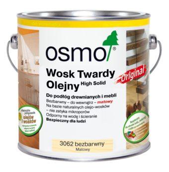 Osmo 3062 - Wosk Twardy Olejny ORIGINAL - Bezbarwny, Matowy