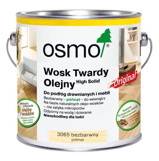 Osmo 3065 - Wosk Twardy Olejny ORIGINAL - Bezbarwny, Półmat
